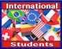 Flags with International Students