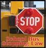School Bus with Red Stop Sign