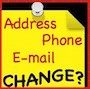 Yellow Note with Address Phone E-mail Change?