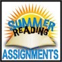 Summer Reading Requirements with sun and open book