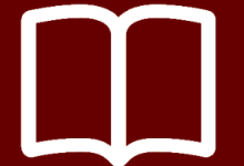 Maroon Open Book with White Border Empty Pages