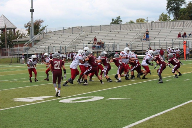 MS Football - Holding the line!