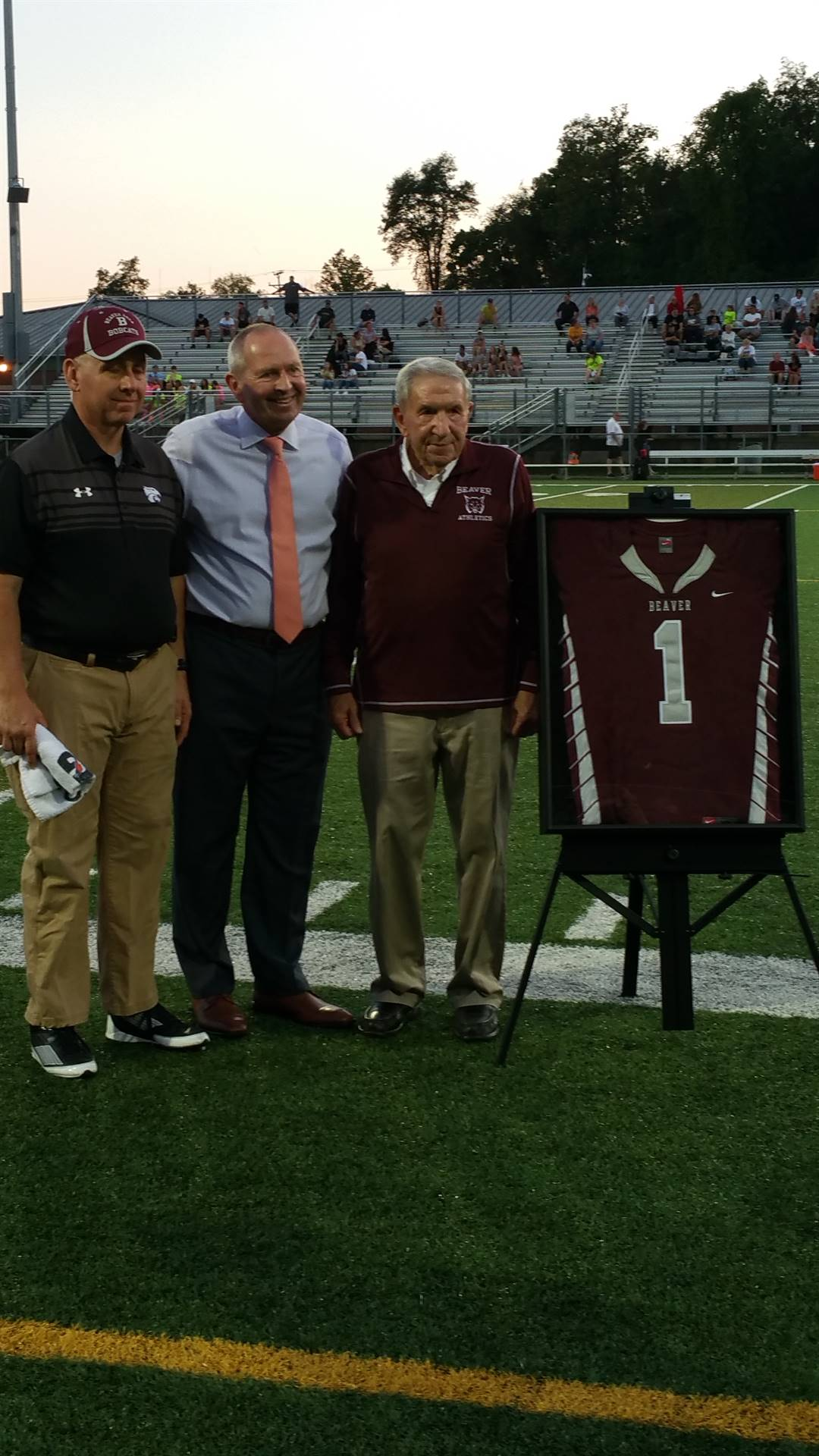 #1 Jersey 2017 - Dr. Slemenda was awarded the #1 jersey for 2017.  He established the Pat Tarquinio