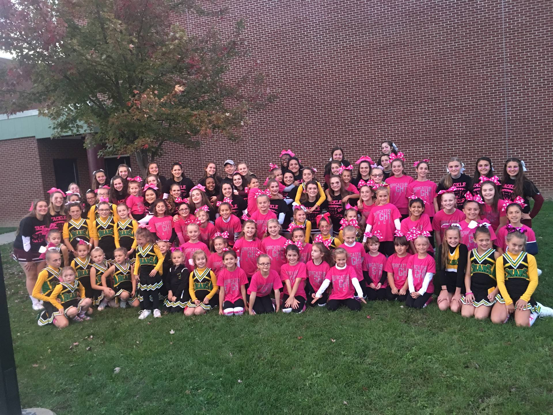 Youth and HS/MS Cheerleaders @ youth night  2017 - Brighton Twp, Beaver Youth and HS/MS Cheerleaders