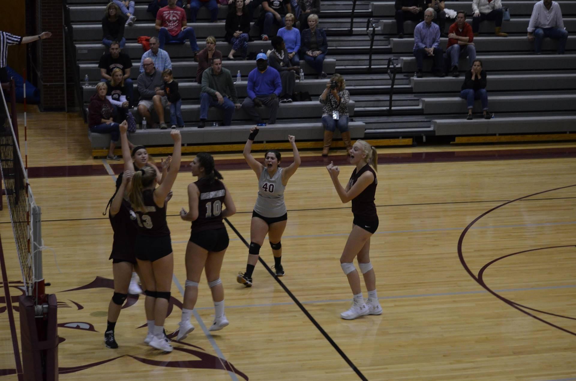 Varsity girl's volleyball - Team effort!