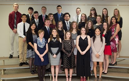 26 students at National Honor Society Induction