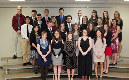 26 Students at the NHS Induction Ceremony