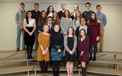 19 Students at NHS Induction Ceremony