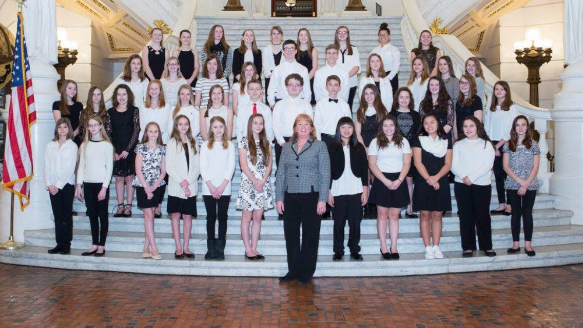 MS Choir Harrisburg Capitol Rotunda 2017