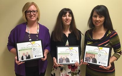 Three Golden Apple Award Teachers
