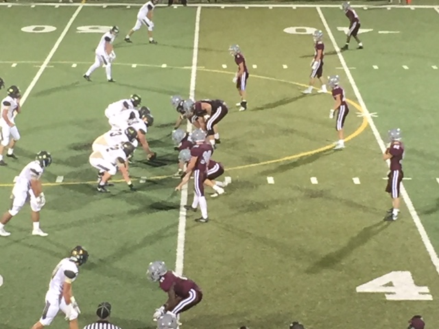 Bobcat defense on the line! - The tough mighty Bobcat defense on the line against KO.
