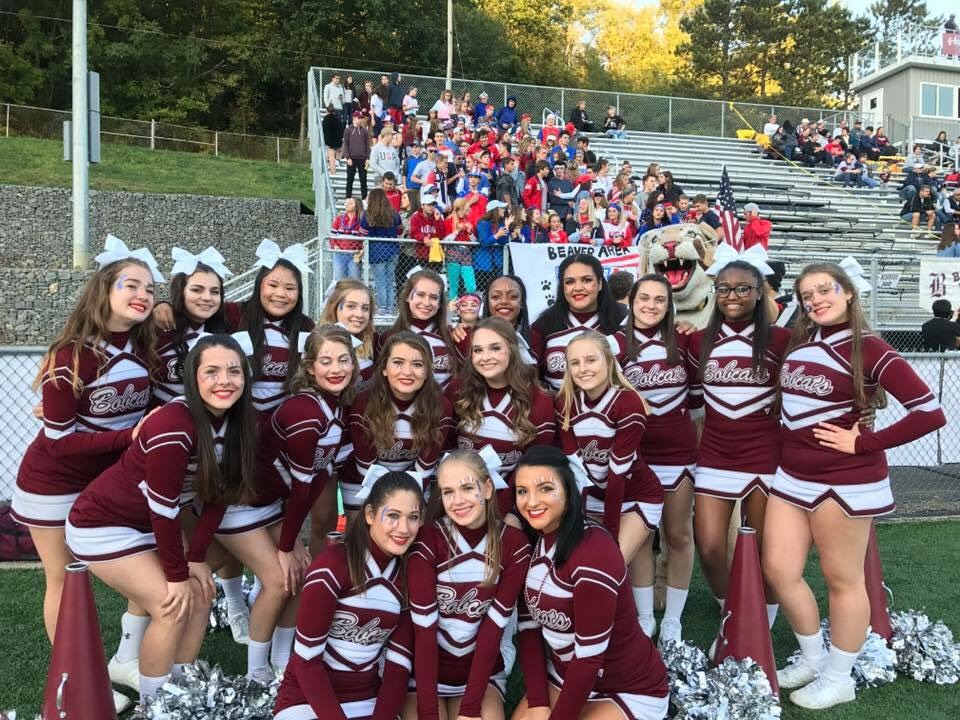 Varsity Cheer - Getting ready to cheer on the Bobcats to victory!