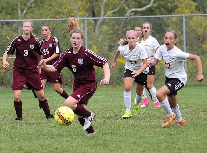 MS Girl's Soccer - Taking the charge!