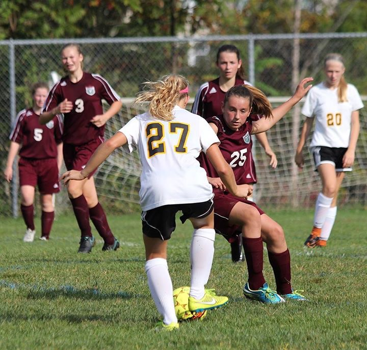 MS Girl's Soccer - Playing tough!