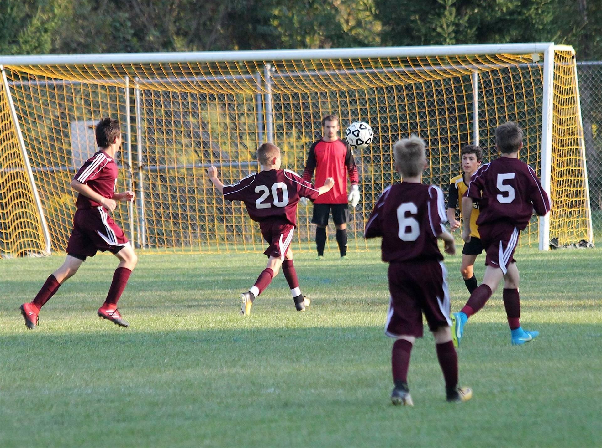 MS Boy's Soccer - Taking a shot!