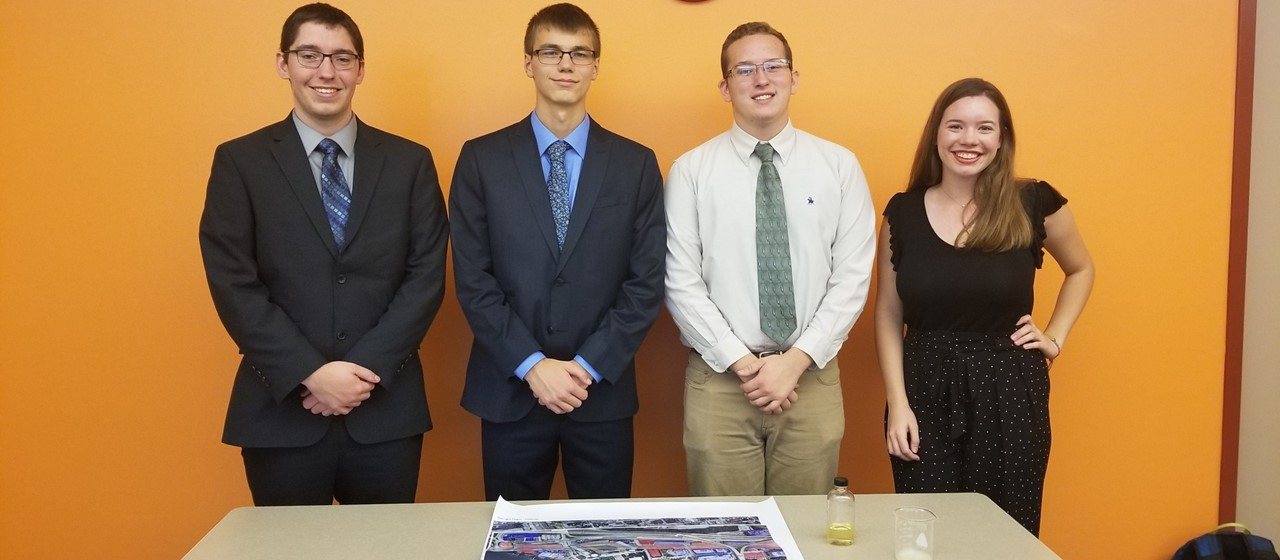 Four students who participated in STEAM Group Challenge Power Pittsburgh