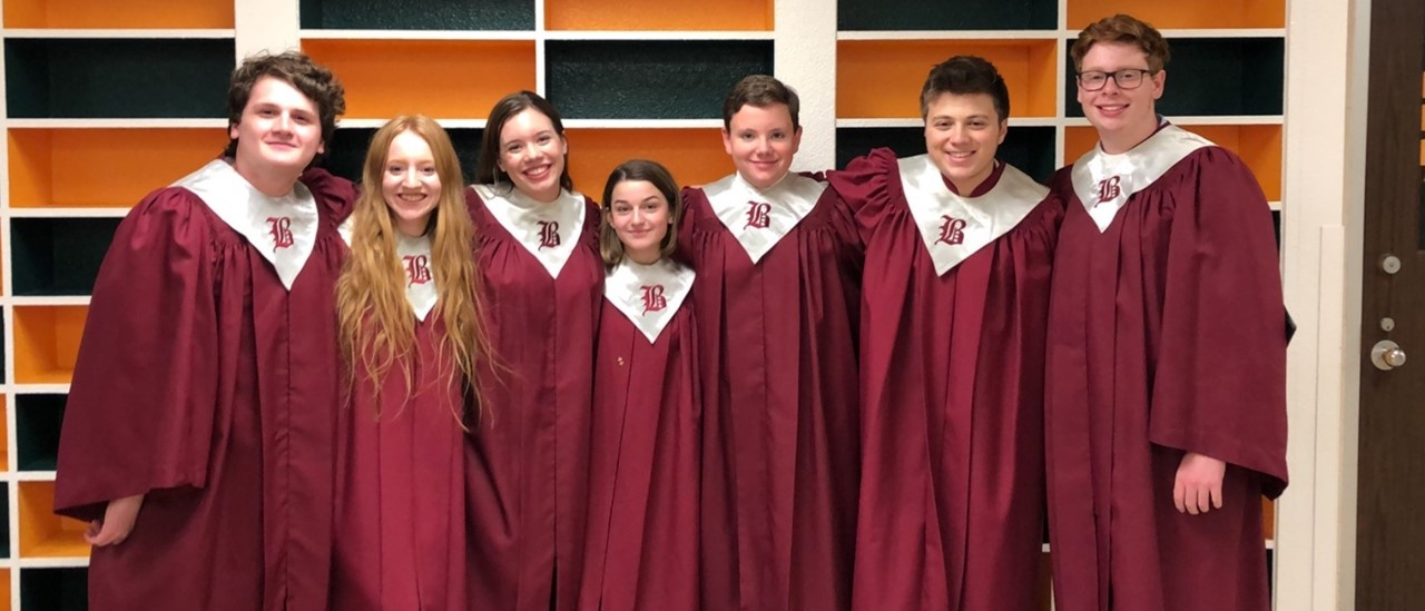 Seven students who participated in Beaver County Honors Chorus