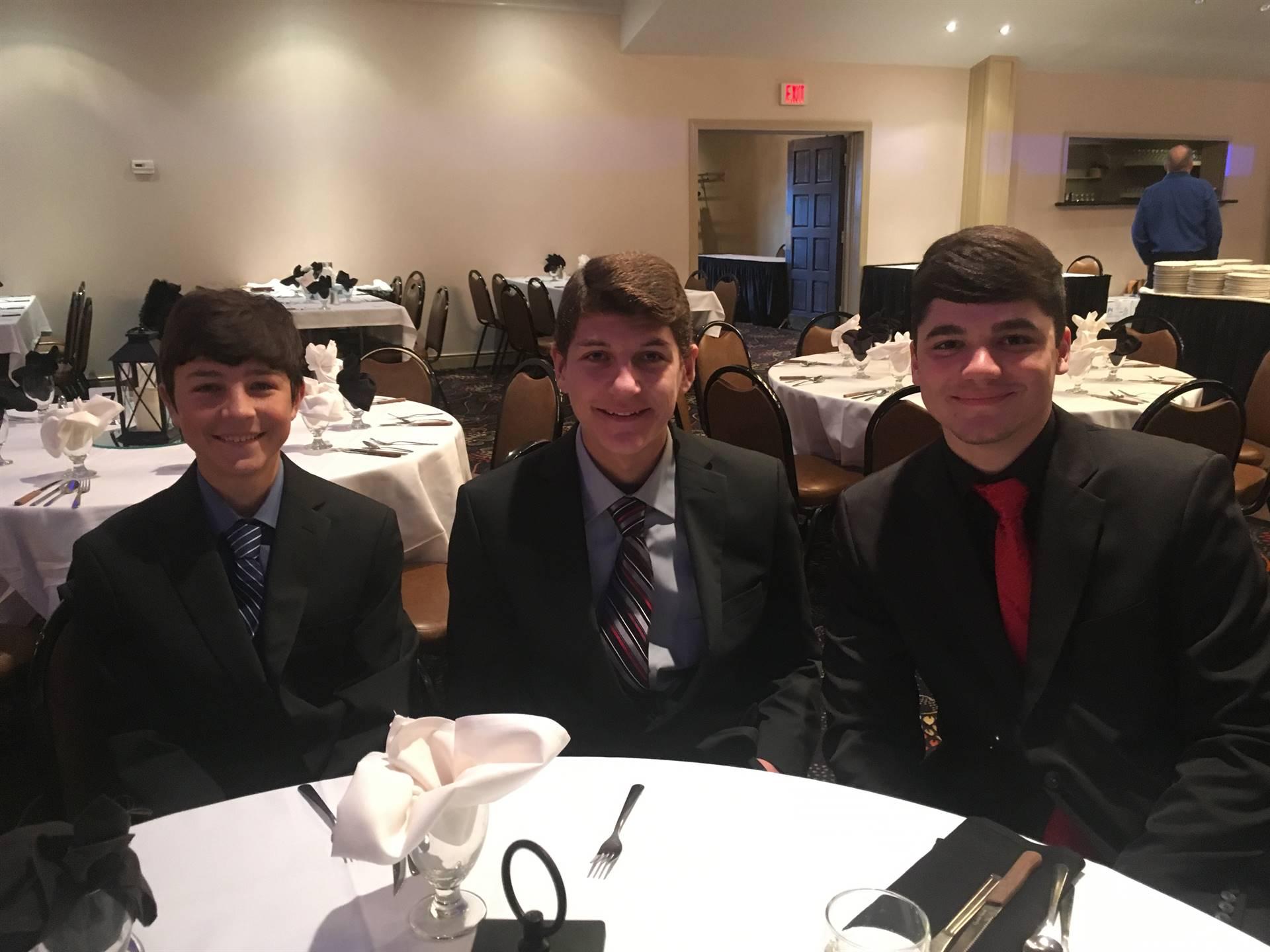 Noah, Zach, and Vinny