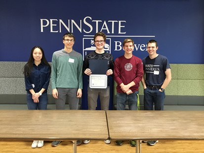 Winners of the Penn State Beaver Math Competition