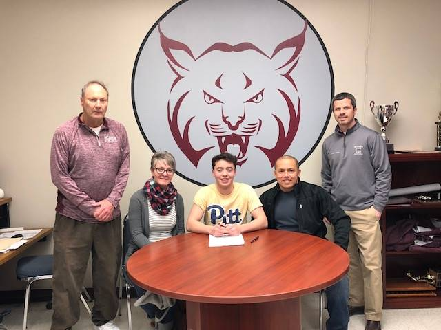 Aiden Perez signs to play soccer and tennis at Pitt Bradford.