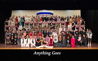 Full Cast Photo of Anything Goes Production
