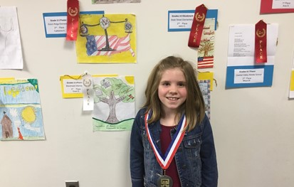 Student who won 2nd Place in the Law Day poster contest