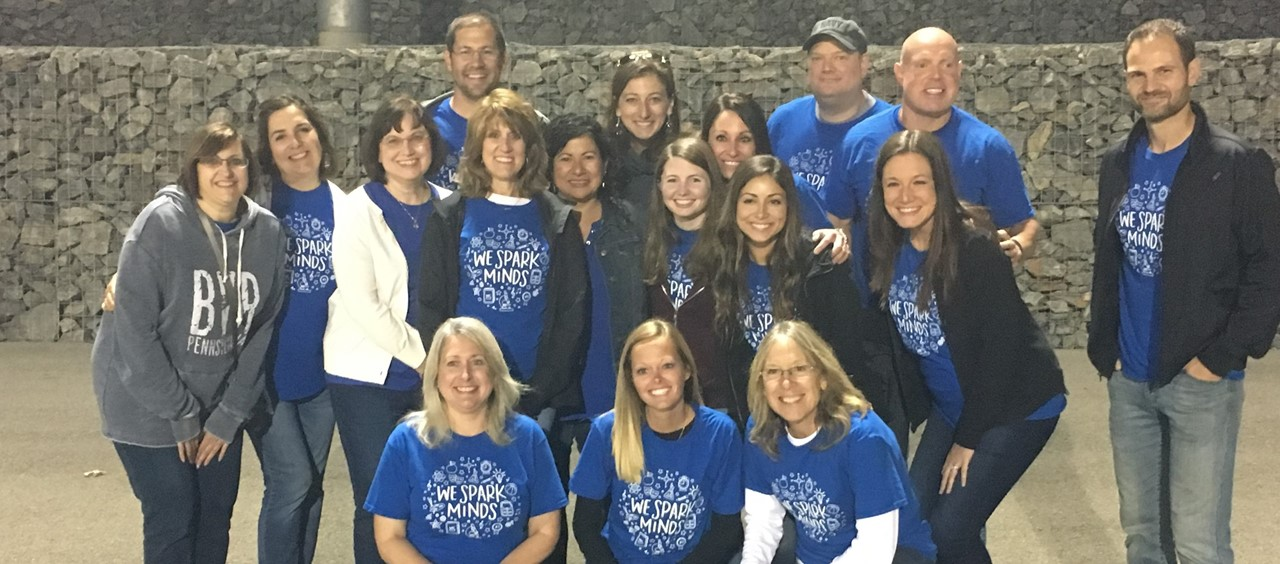 Dutch Ridge Teachers and Staff being recognized at the Football Game