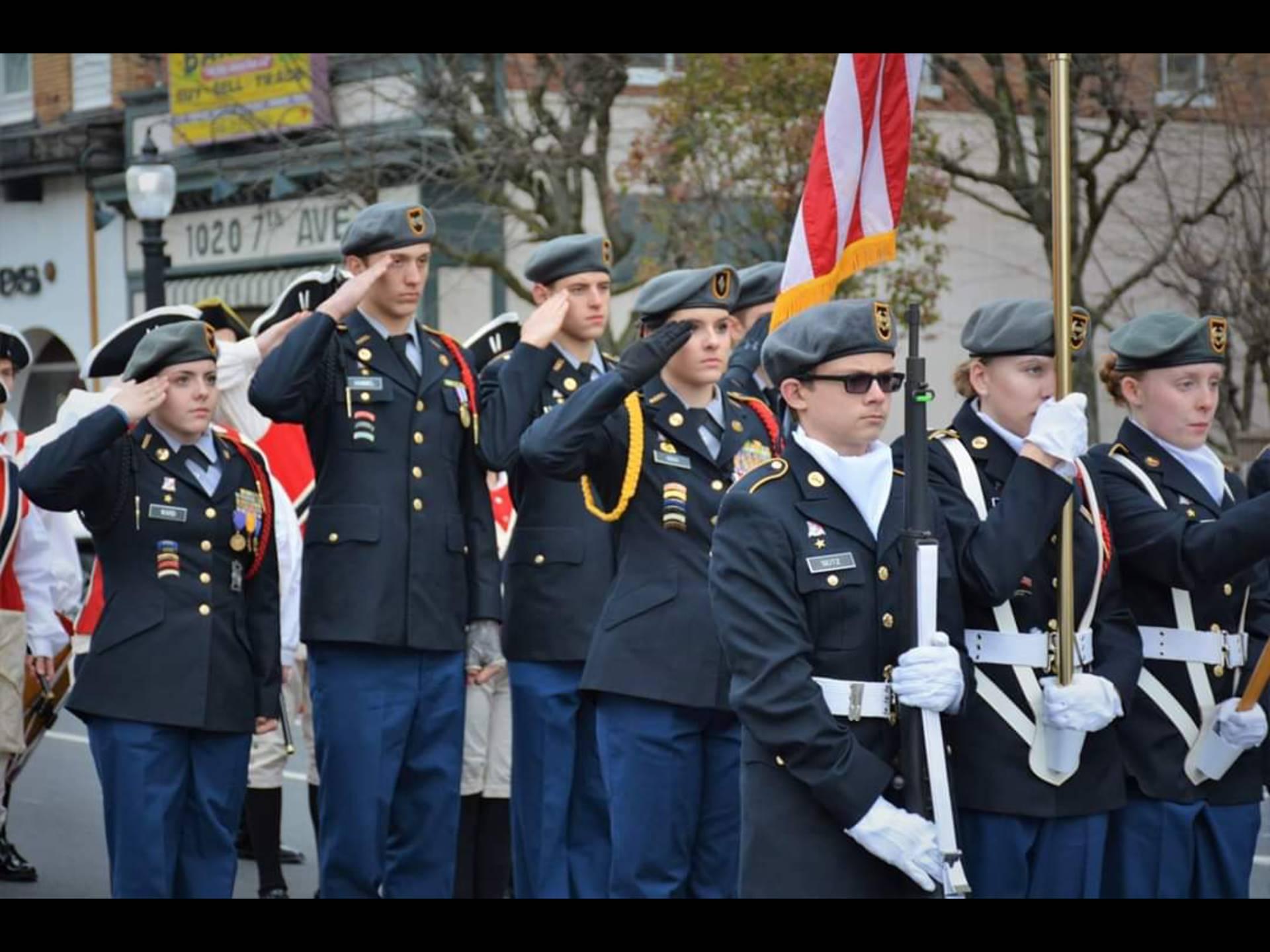 JROTC at Veterans Day Parade