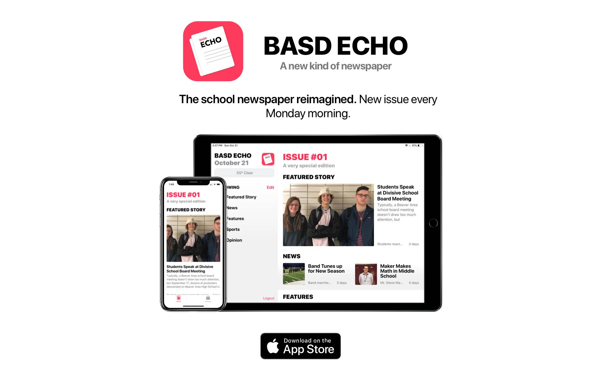 Echo Issue #1 in the iPhone and iPad app