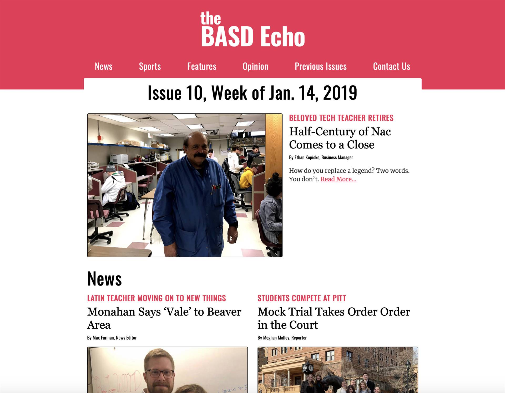 The Echo's 10th Issue
