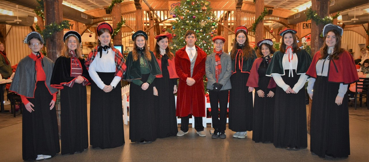 Eleven carolers from our Music Department entertaining at Kennywood