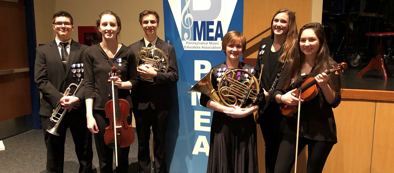 Six Students who participated in PMEA Western Region Orchestra