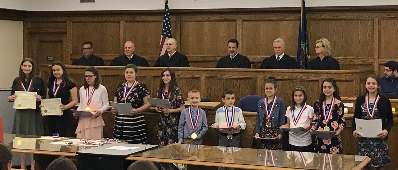 Law Day at the Beaver County Courthouse Student Winners and Judges