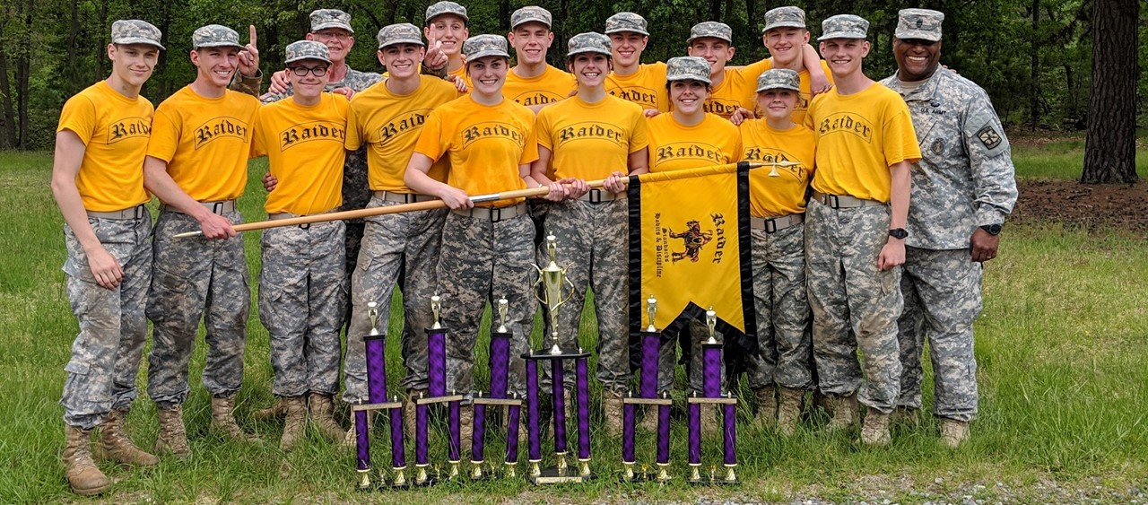 Beaver Raiders  14 students and 2 instructors with 1st place trophies