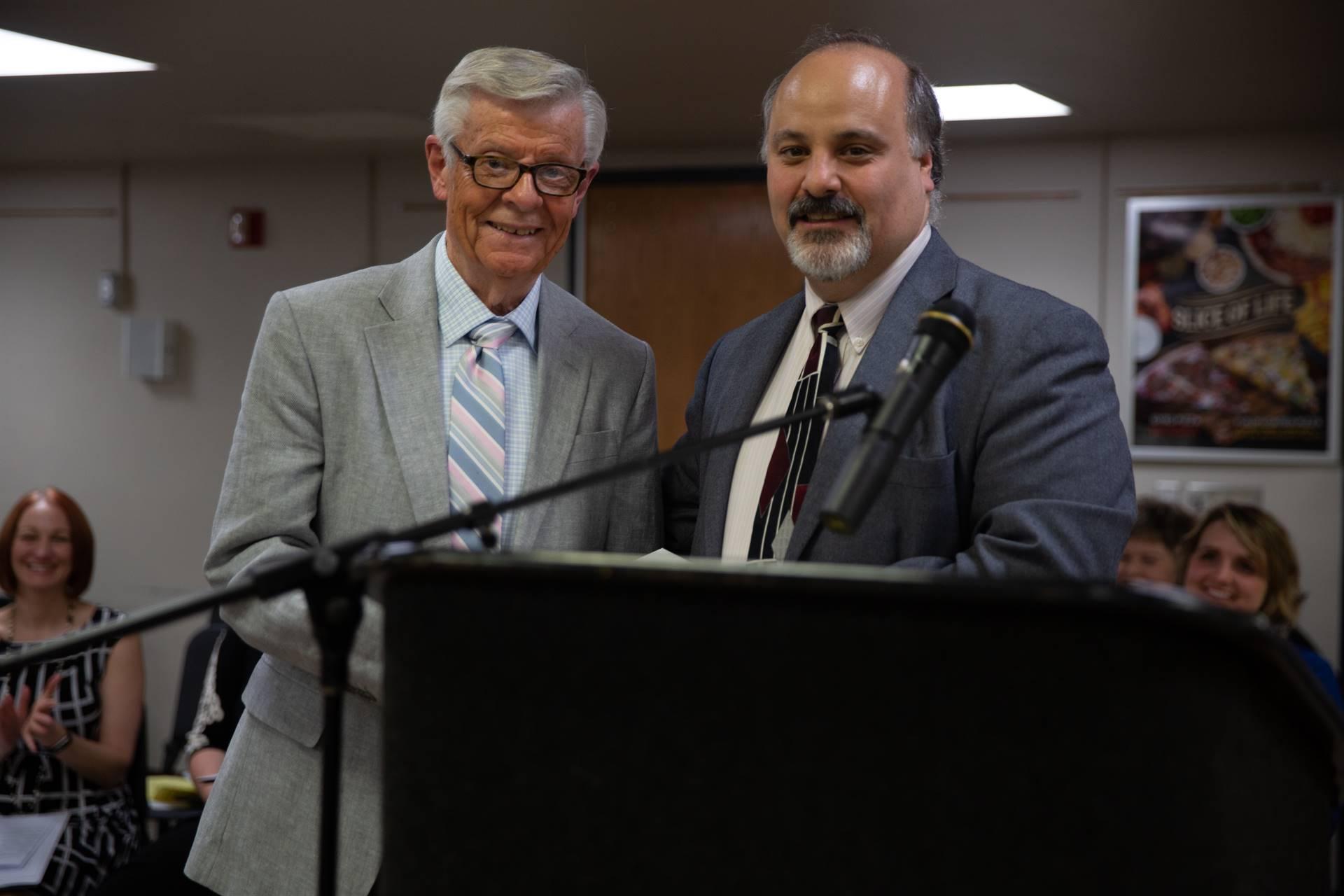 Dr. John Guzzetti with Mr. William Lohr
