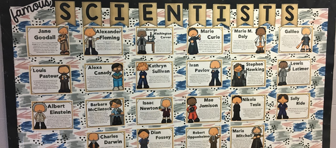 Famous Scientists Bulletin Board