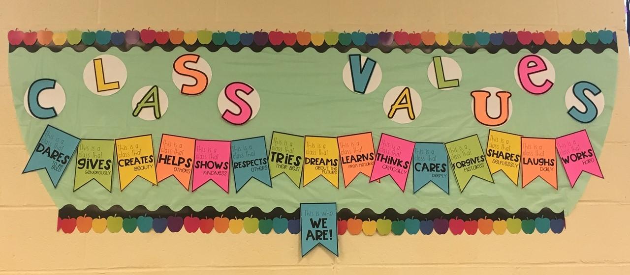 Class Values Bulletin Board