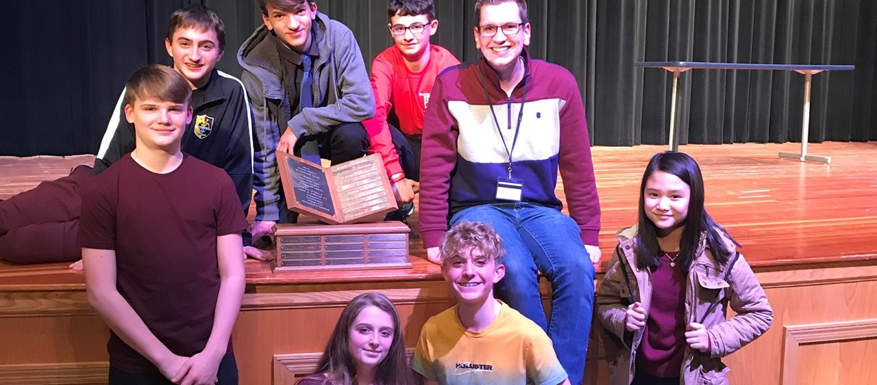 Eight students at the Mathcounts Chapter Competition