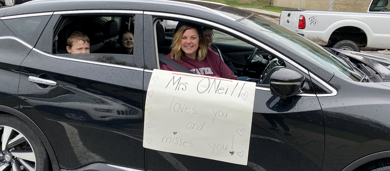 Mrs. O'Neill at the BASD Staff Parade on 3/2/20
