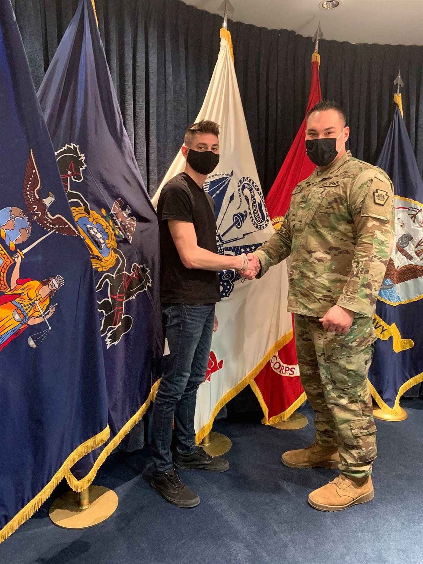 CJ Oravitz Enlisting to PA Army National Guard